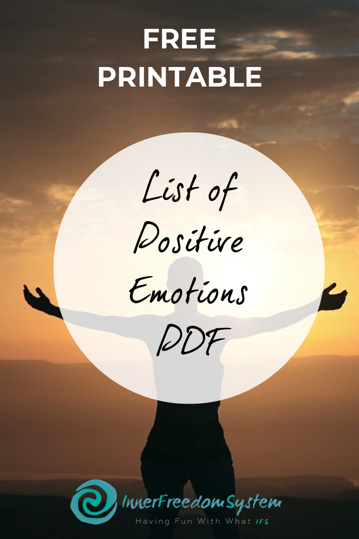 List of Positive Emotions PDF